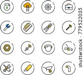 line vector icon set   money... | Shutterstock .eps vector #779522035