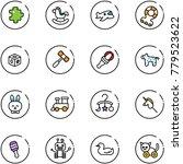 Line Vector Icon Set   Puzzle...
