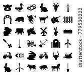 farm icons. set of 36 editable... | Shutterstock .eps vector #779530222