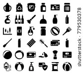 plastic icons. set of 36... | Shutterstock .eps vector #779530378