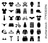clothes icons. set of 36... | Shutterstock .eps vector #779530396
