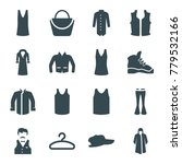 casual icons. set of 16... | Shutterstock .eps vector #779532166