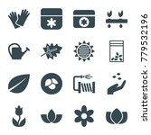 flower icons. set of 16... | Shutterstock .eps vector #779532196
