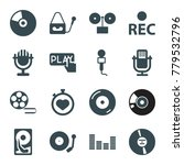 record icons. set of 16... | Shutterstock .eps vector #779532796