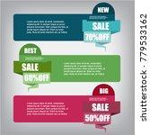 web sale banner   Shutterstock .eps vector #779533162
