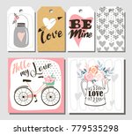 happy valentines day set | Shutterstock .eps vector #779535298