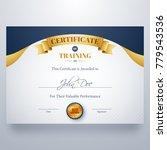 training certificate best award ... | Shutterstock .eps vector #779543536