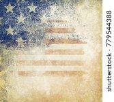 grunge usa flag | Shutterstock . vector #779544388