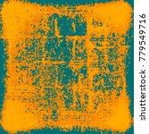 yellow orange grunge background | Shutterstock . vector #779549716