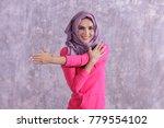 portrait of beautiful hijab... | Shutterstock . vector #779554102