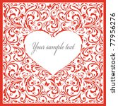 beautiful card with heart | Shutterstock .eps vector #77956276
