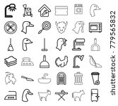 domestic icons set of 36