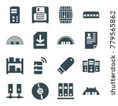 storage icons. set of 16...   Shutterstock .eps vector #779565862