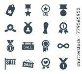 ribbon icons. set of 16... | Shutterstock .eps vector #779565952