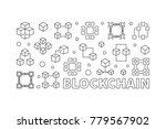 blockchain concept horizontal...   Shutterstock .eps vector #779567902