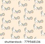 seamlessly pattern with unicorn | Shutterstock .eps vector #779568136