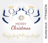 vector christmas angels. paper... | Shutterstock .eps vector #779568256