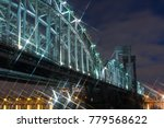night cityscape bridge  long... | Shutterstock . vector #779568622