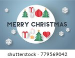 merry christmas greeting card... | Shutterstock .eps vector #779569042
