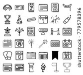 event icons. set of 36 editable ... | Shutterstock .eps vector #779578396