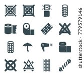 dry icons. set of 16 editable... | Shutterstock .eps vector #779579146