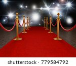 red carpet and velvet ropes on... | Shutterstock . vector #779584792