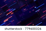 tech seamless pattern with... | Shutterstock .eps vector #779600326