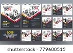 desk calendar 2018 template  ... | Shutterstock .eps vector #779600515