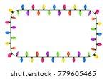 light bulb  garland square... | Shutterstock .eps vector #779605465
