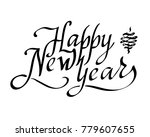 happy new year text vector on... | Shutterstock .eps vector #779607655