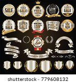 gold and silver retro badges... | Shutterstock .eps vector #779608132