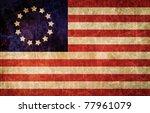 old 1777 flag of usa  usa flag... | Shutterstock . vector #77961079