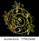 golden vector abstract pattern...