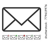 envelope icon set. vector. | Shutterstock .eps vector #779619976