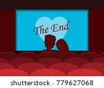 couple of lovers watching... | Shutterstock .eps vector #779627068