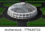 Round Glass Building  Pavilion...