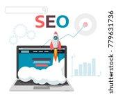 graphic concept seo... | Shutterstock . vector #779631736