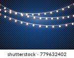 christmas lights isolated...   Shutterstock .eps vector #779632402