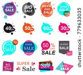set of flat design sale stickers | Shutterstock . vector #779633035