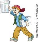 seller of newspapers   Shutterstock .eps vector #779633962