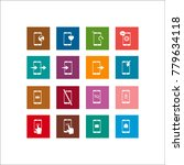 phone icon. flat vector icon set | Shutterstock .eps vector #779634118