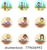 lifestyle  multicolor icon set | Shutterstock .eps vector #779636992