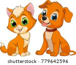 vector illustration of a kitten ... | Shutterstock .eps vector #779642596