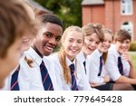 group of teenage students in... | Shutterstock . vector #779645428