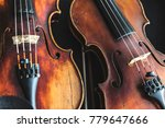 many violins and violas next to ... | Shutterstock . vector #779647666