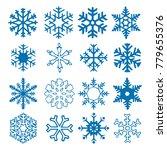 snowflake vector icon... | Shutterstock .eps vector #779655376