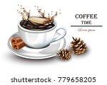 coffee splash realistic vector. ...   Shutterstock .eps vector #779658205