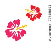 pink and red hibiscus vector... | Shutterstock .eps vector #779658535