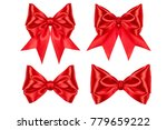 four silk gift bow  red color ... | Shutterstock . vector #779659222