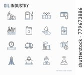 oil industry thin line icons... | Shutterstock .eps vector #779673886